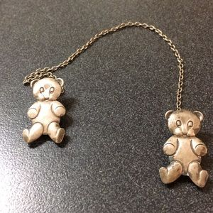Highest quality Antique sterling teddy bear clips